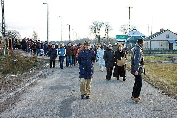 Verlaten van de rampe in Sobibor