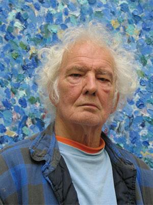 Jan Wolkers,  de ontwerper van het Spiegelmonument 'Nooit Meer Auschwitz'